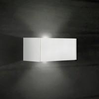 T-LED Wandleuchte, 2-flg., weiß lackiert