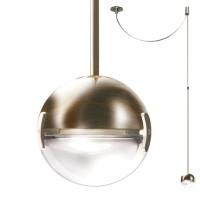 Convivio new LED Sopratavolo Decentrata, Nickel satiniert, Linse sandgestrahlt