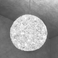 Fil de Fer Pendelleuchte, Ø: 60 cm, Aluminium
