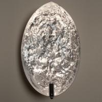 Stchu-Moon 05 Wandleuchte, Silber/außen weiß