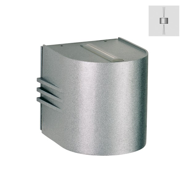 Albert Leuchten 2306 Wandstrahler, eng/eng, Silber