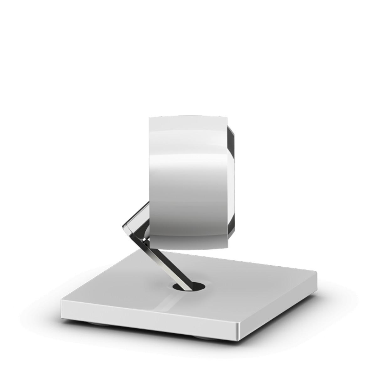 Occhio Più RS basso Bodenstrahler, 2700 K, weiß glänzend / Chrom