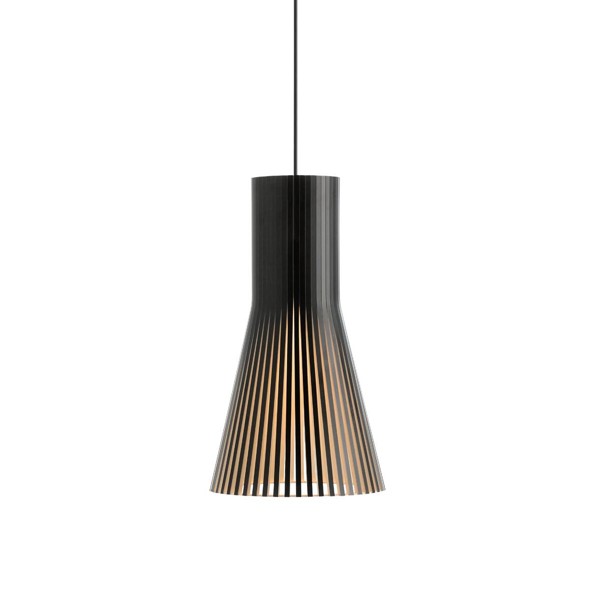 Secto Design Secto 4201 Pendelleuchte, schwarz laminiert, Kabel: schwarz
