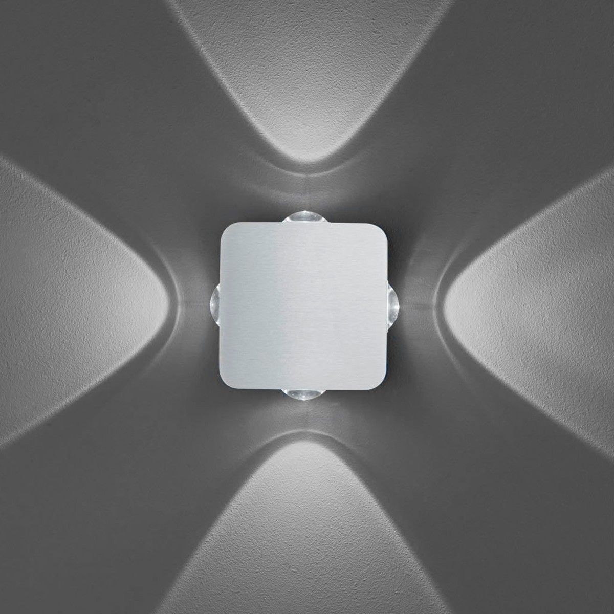 B-Leuchten Prince 40228 Wandleuchte, Aluminium