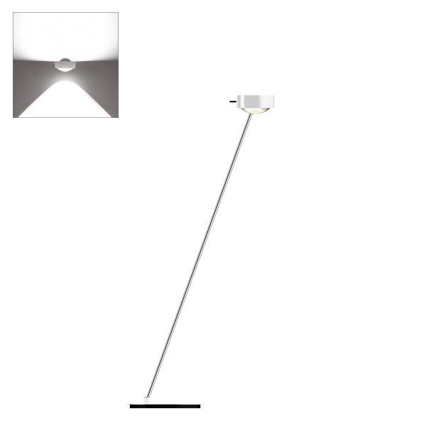 Occhio Sento E LED lettura, 125 cm, Chrom /weiß glänzend (Ausrichtung links)