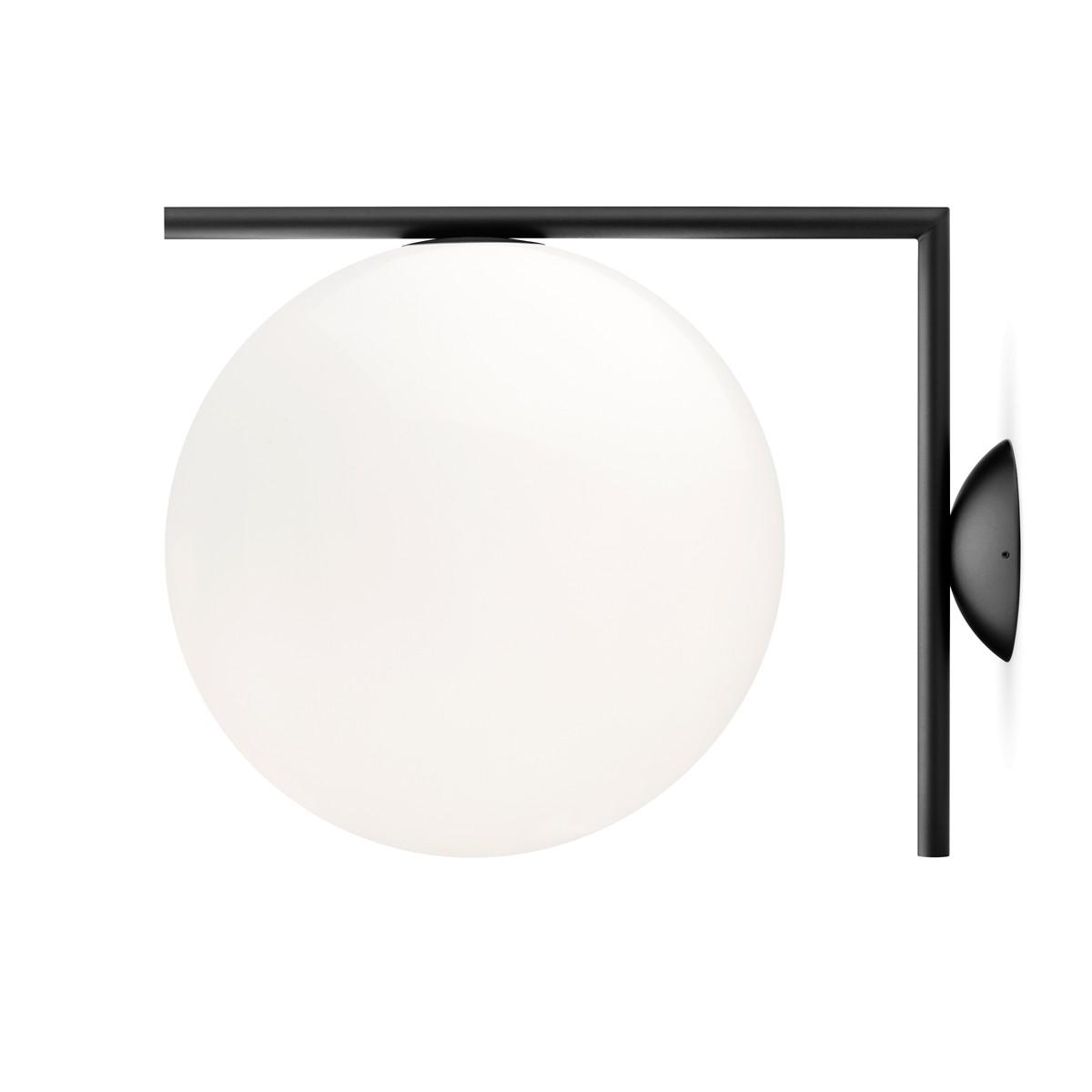 Flos IC C/W2 Wand- / Deckenleuchte, schwarz