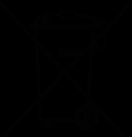 Elektrogesetz Symbol der durchgestrichenen Mülltonne