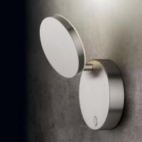 Holtkötter Plano WD LED Wandleuchte, mit Tastdimmer, Aluminium matt