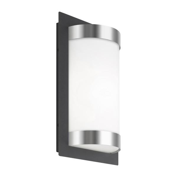 LCD Außenleuchten 061 Wandleuchte LED, Edelstahl/graphit, ohne Bewegungsmelder