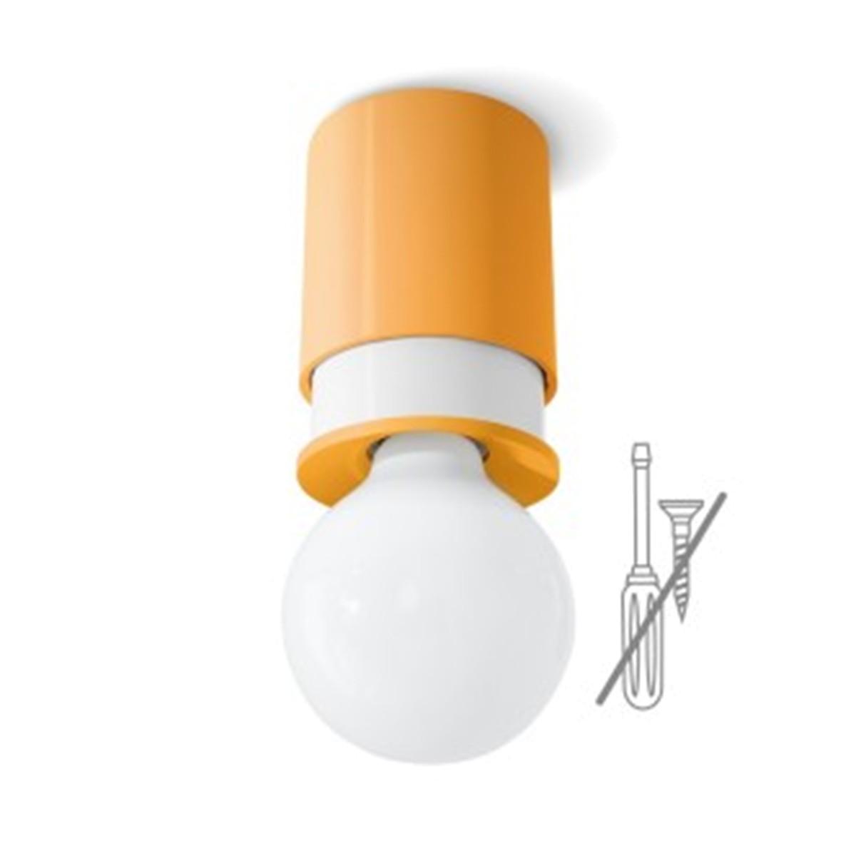 Klein AG Twister Colours Wand- / Deckenleuchte, orange