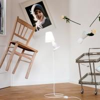 Next FlapFlap Tisch- / Bodenleuchte, weiß