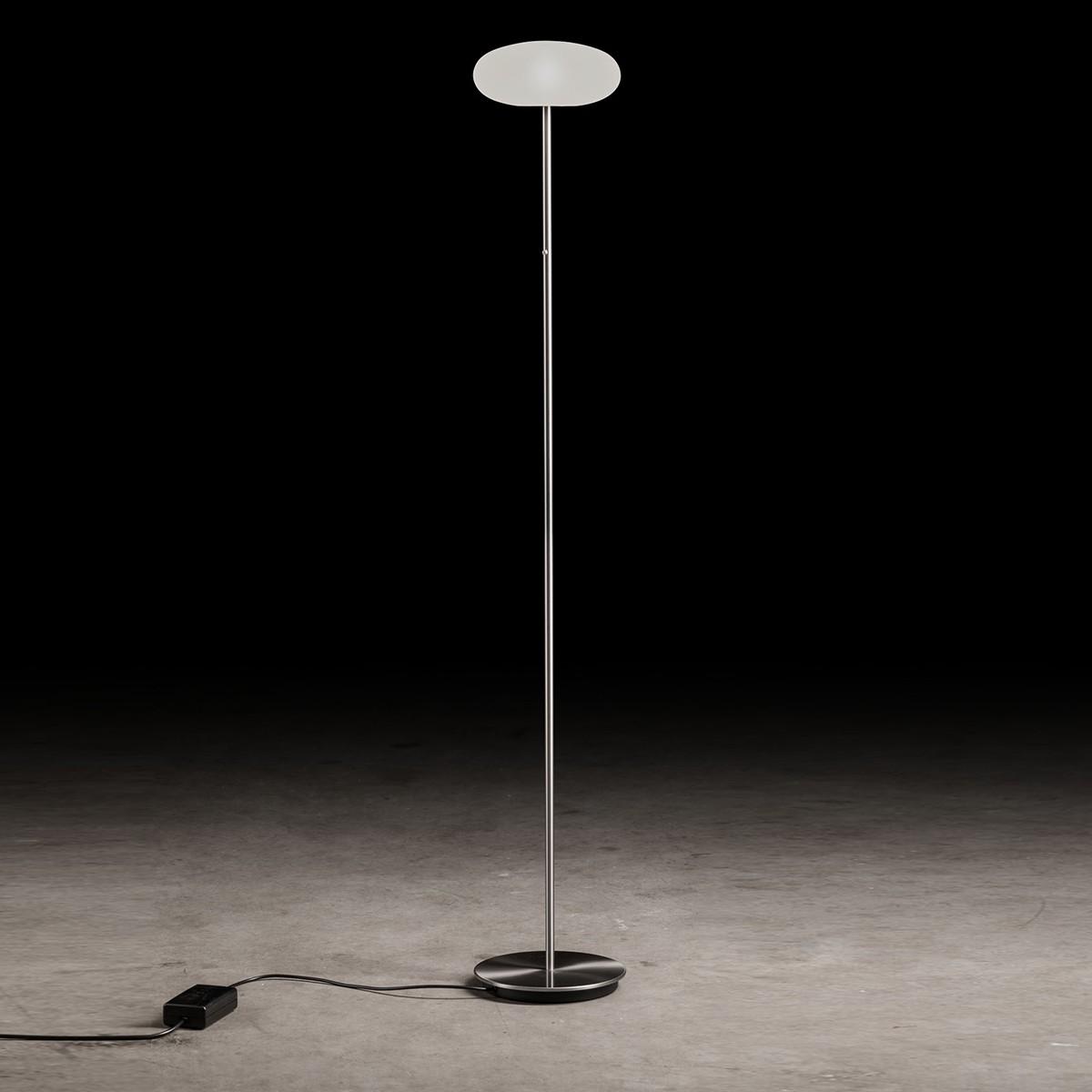 Holtkötter Leuchten Amor S Stehleuchte LED, Höhe: 180 cm / Nickel matt
