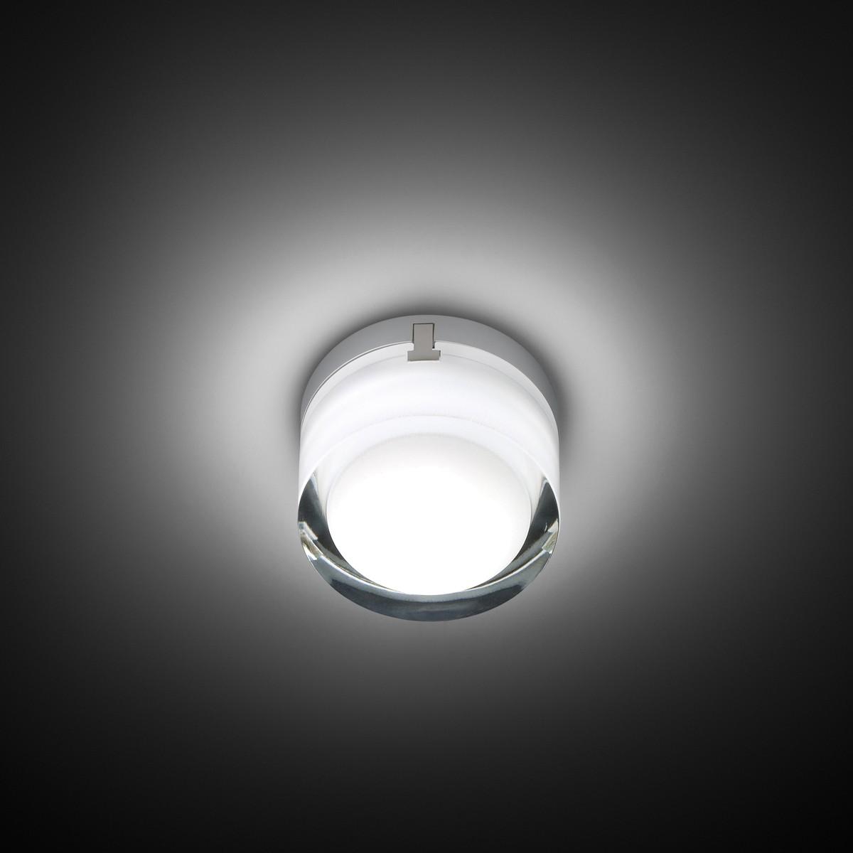 Vibia Scotch LED Wand- / Deckenleuchte, Glas / Chrom