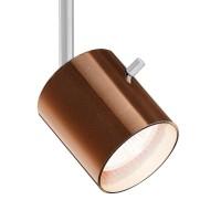 800238 Glas Entblendring / Glasring für Strahler, Stift: Chrom matt / Glas: Bronze - weiß