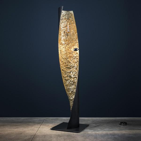 Catellani & Smith Stchu-Moon 09 Stehleuchte, Eisenrohr / Gold