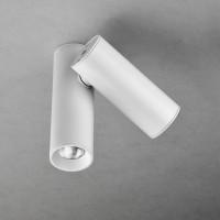 Milan Tub LED Deckenstrahler, 2-flg., weiß lackiert