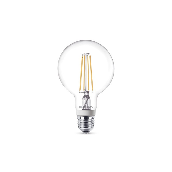 Philips LED Globe E27 7 W, warmweiß, dimmbar, klar