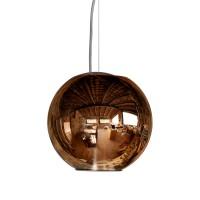Globo Di Luce Pendelleuchte, Ø: 20 cm, Kupfer metallisiert