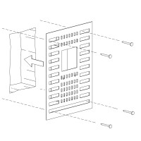 Einbauset Unterputz / Mauerwerk für Mike India 70 Accent, mit Raum für Konverter