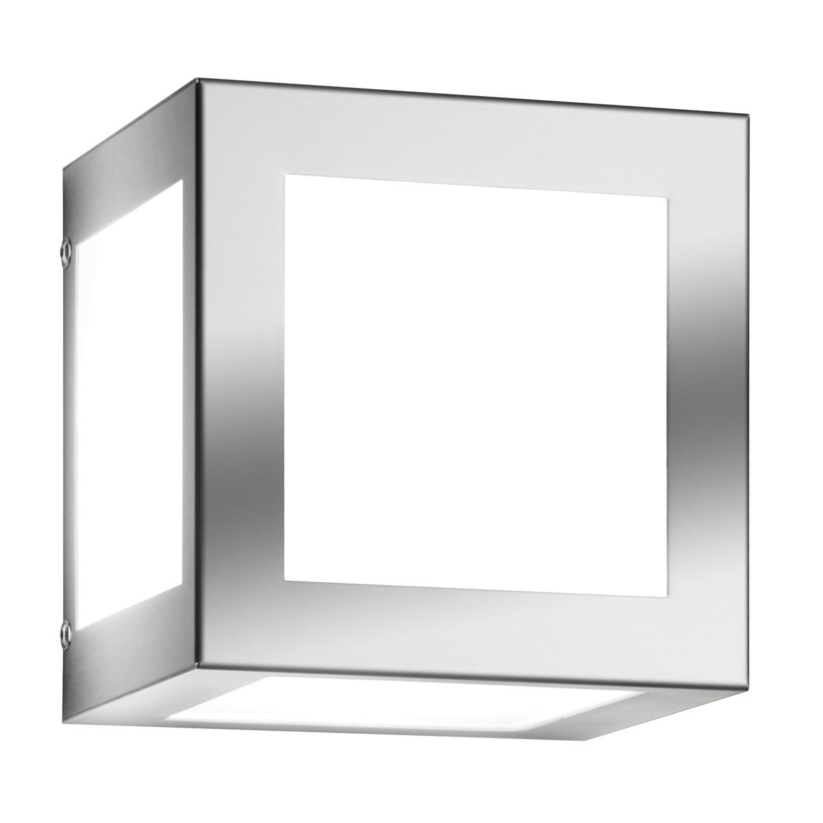 CMD Leuchten Aqua Cubo Wandleuchte, Edelstahl