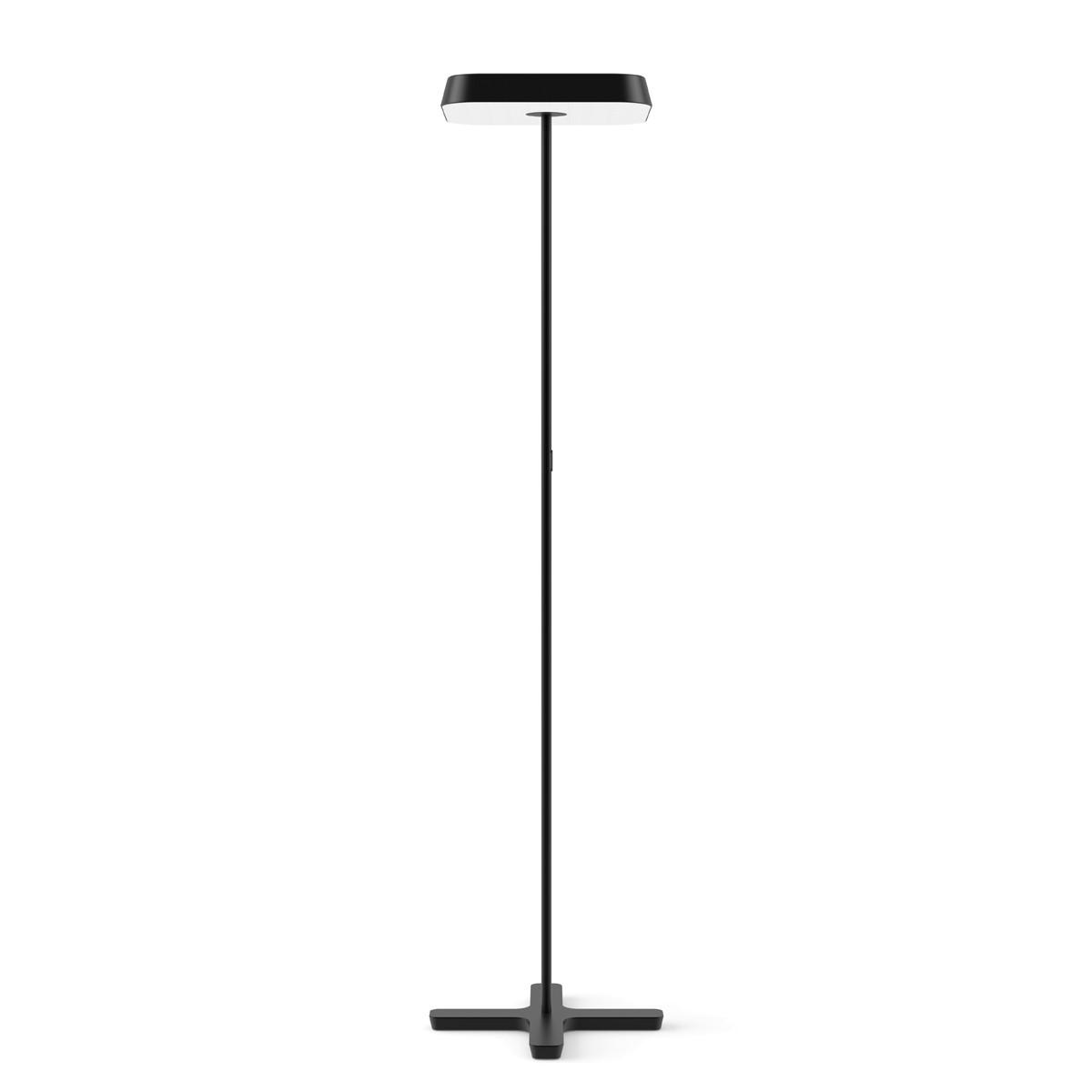Belux Koi-Q LED Stehleuchte, mit Dimmer, 3000K, schwarz