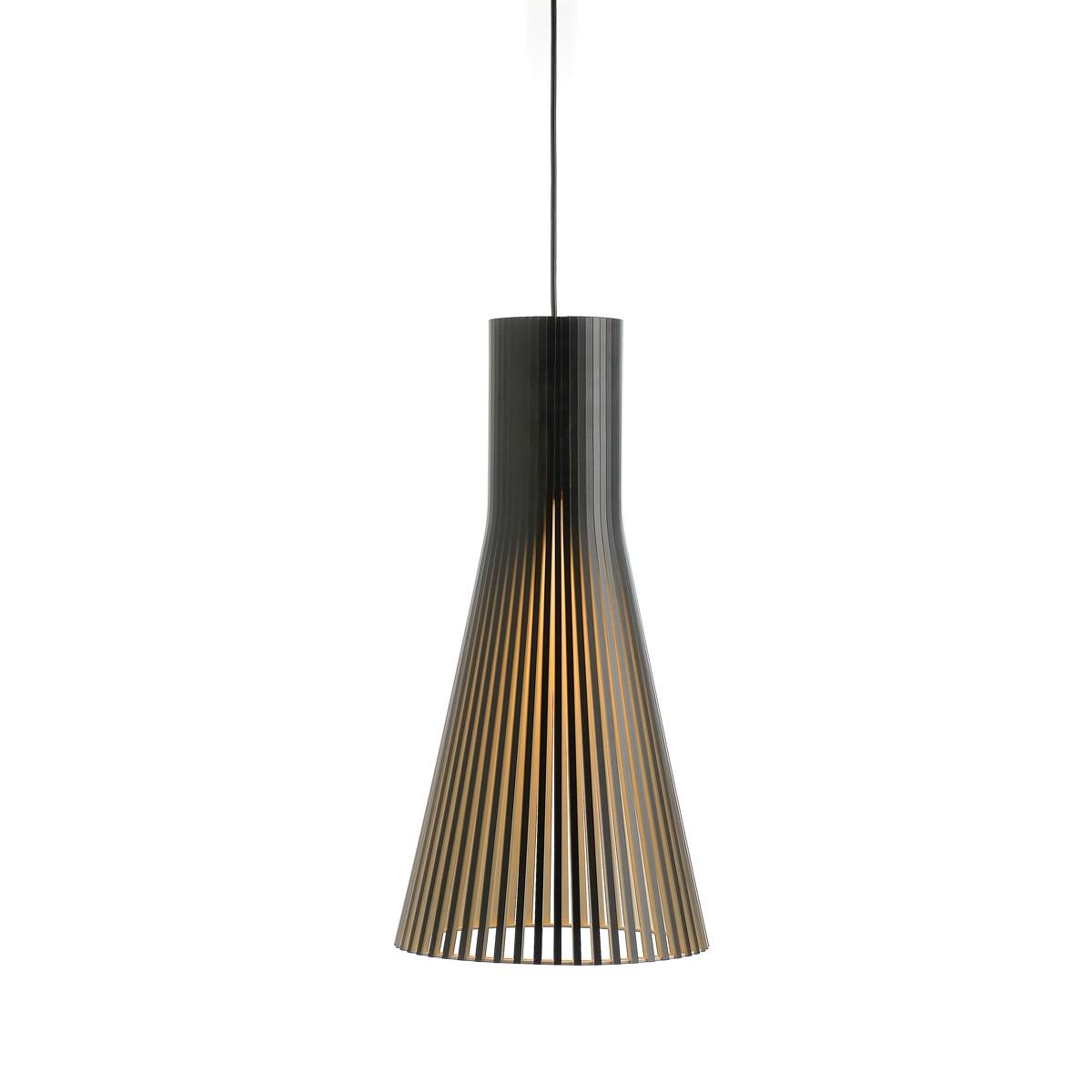 Secto Design Secto 4200 Pendelleuchte, schwarz laminiert, Kabel: schwarz