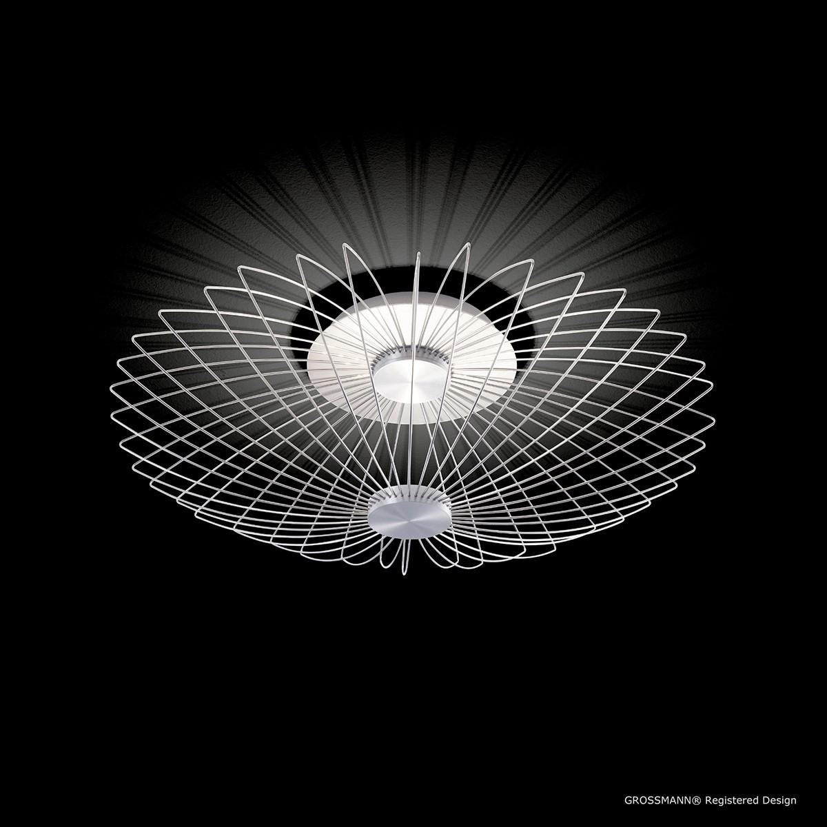 Grossmann Faye LED Wand- / Deckenleuchte, Aluminium gebürstet