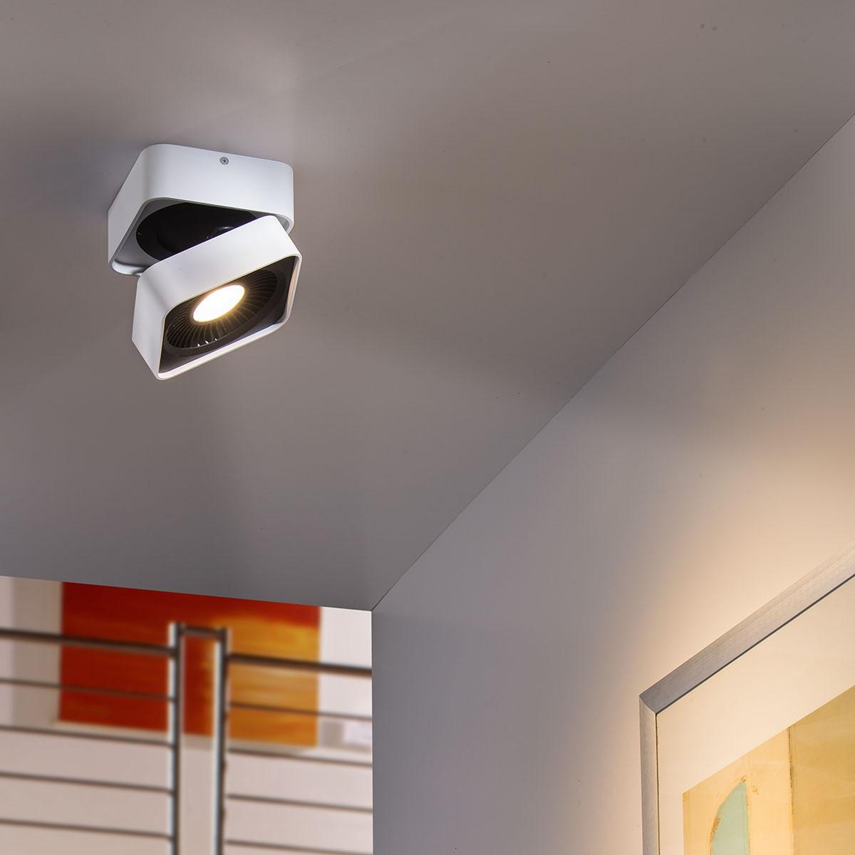 MyLight Studio-SQ LED Wand- / Deckenleuchte, weiß / schwarz