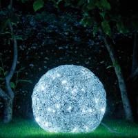 Fil de Fer LED Außenleuchte, Ø: 50 cm, Aluminium