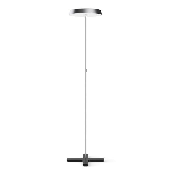 Belux Koi-S LED Stehleuchte, Multisens, Chrom / schwarz