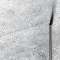 91.341 Deckenleuchte, Nickel matt / Blattsilber