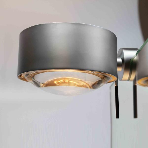 Top Light Puk Maxx Fix + Spiegelleuchte, Chrom matt, Glas satiniert / Linse klar