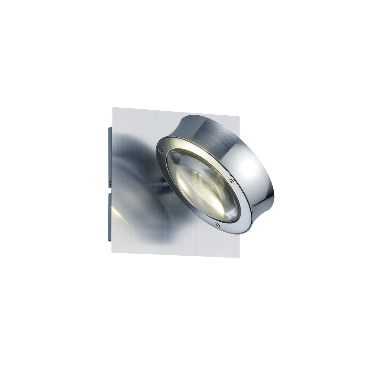 B-Leuchten Easy Light Wandleuchte RGB, Nickel matt / Chrom