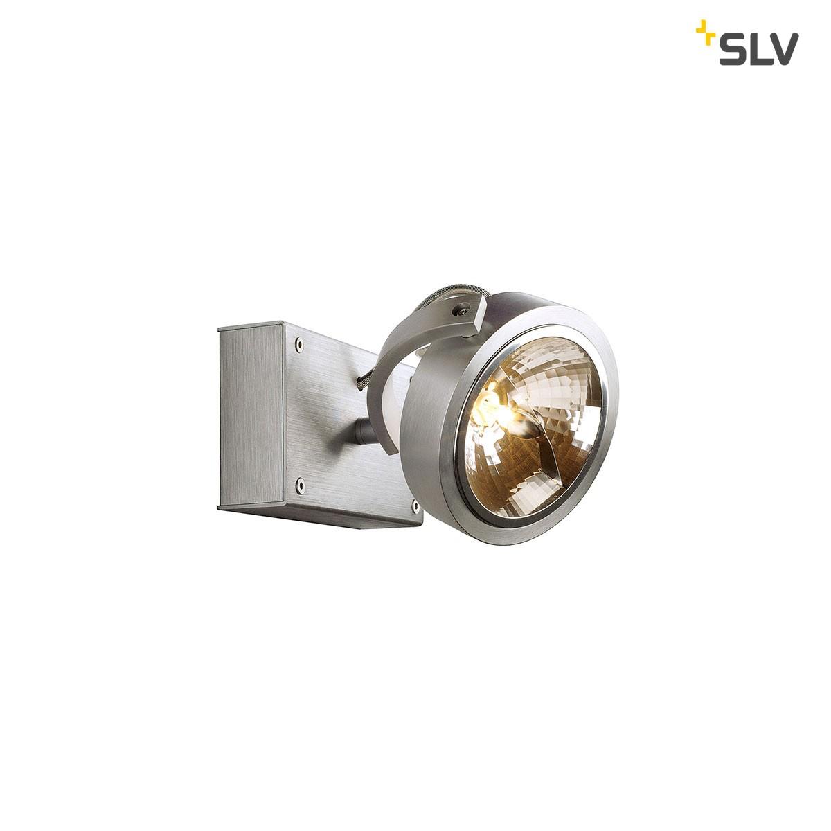 SLV Kalu Wand- / Deckenleuchte, 1-flg., Aluminium gebürstet