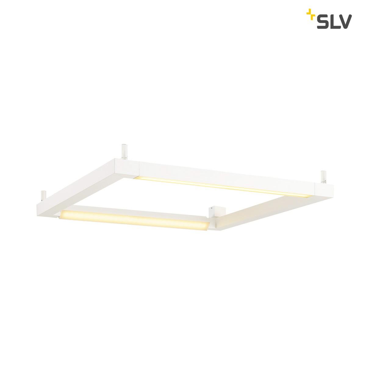 SLV Open Grill Wand- / Deckenleuchte, weiß