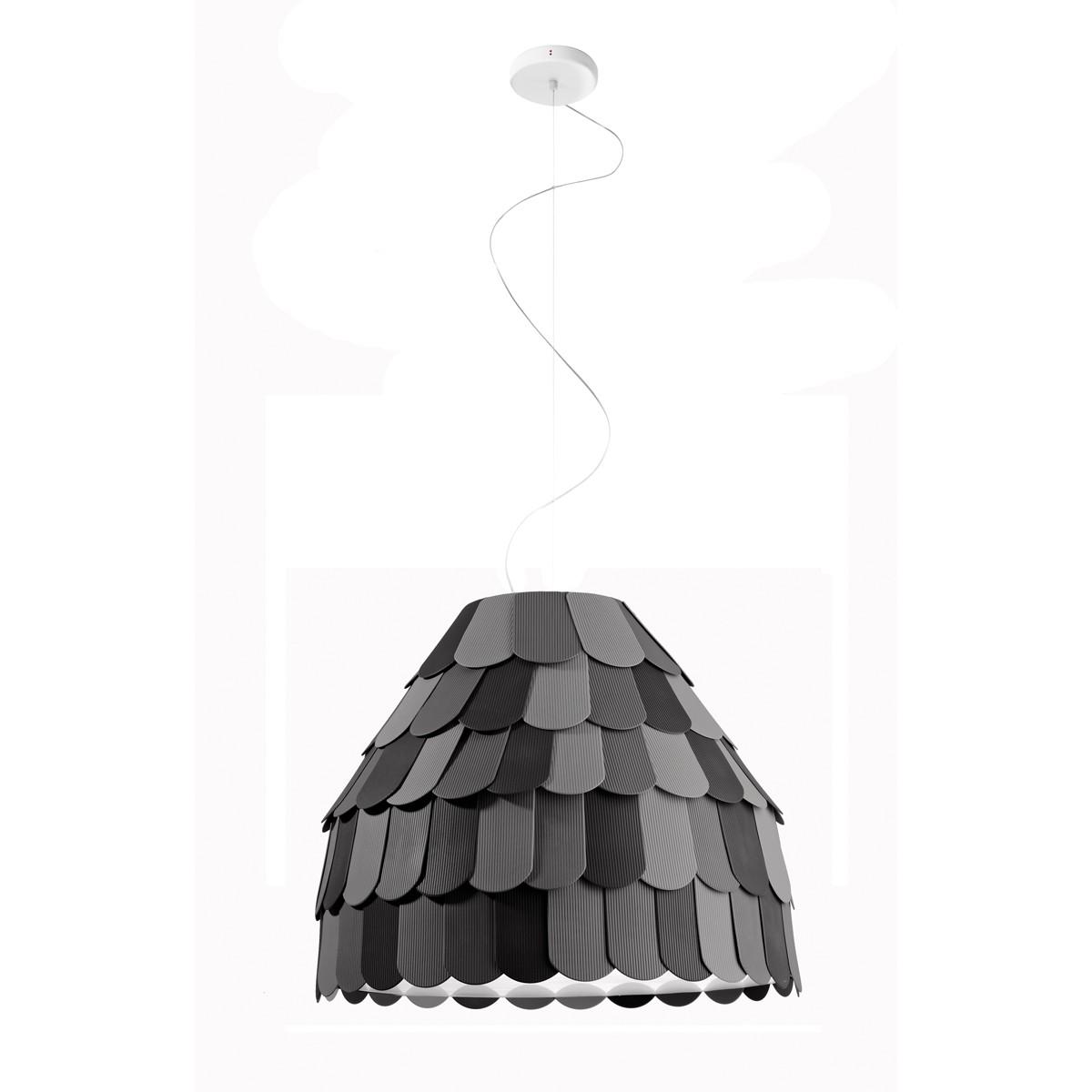 Fabbian Roofer Pendelleuchte A01, schwarz