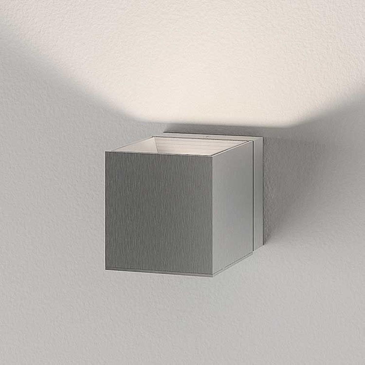 Milan Dau LED Wandleuchte, Aluminium gebürstet