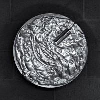 Stchu-Moon 06 Wandleuchte, Ø: 50 cm, schwarz / Silber