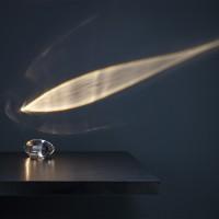 Catellani & Smith Atman LED Tischleuchte, Kristallglas / Nickel