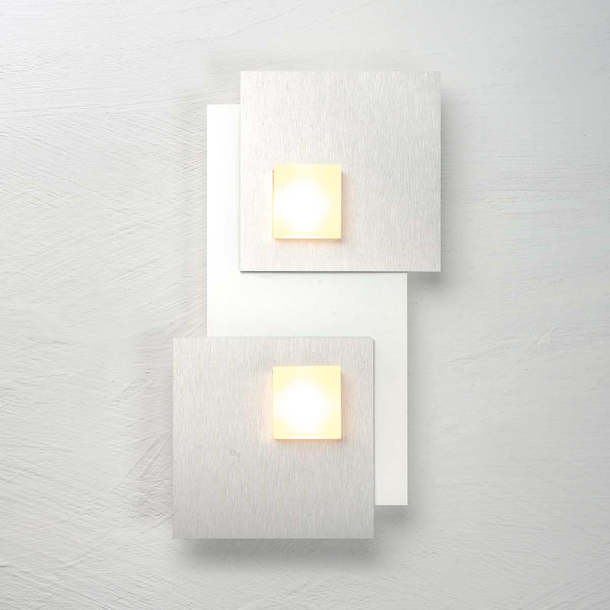 Bopp Pixel 2.0 LED Deckenleuchte 2-flg., weiß, Dekoplatte: Aluminium