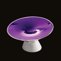 Kundalini Shen Tischleuchte, Glas violett metallisiert
