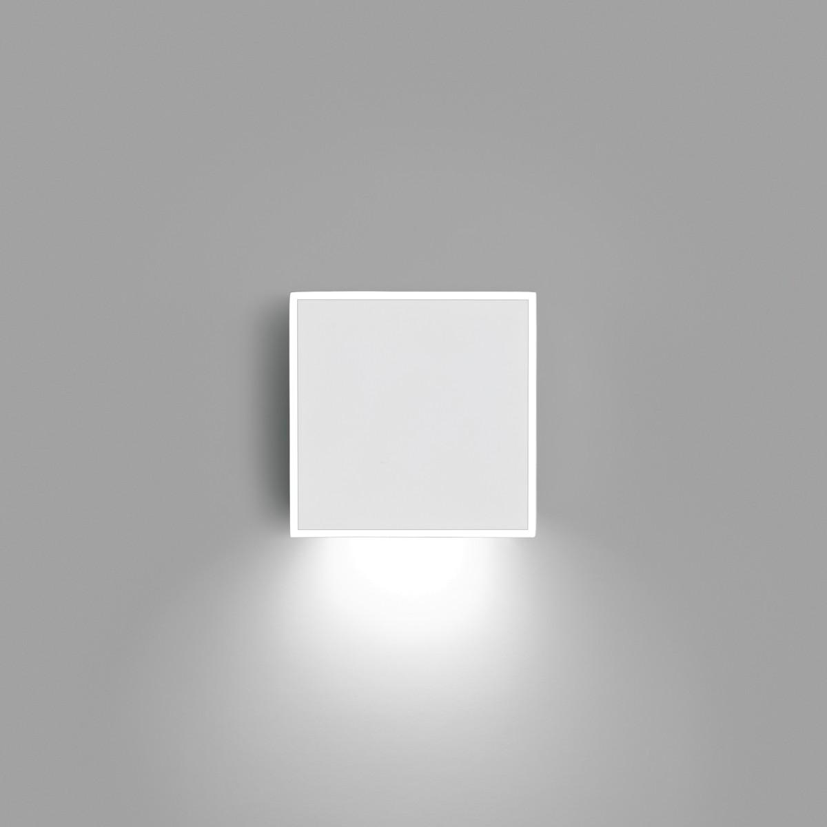 Vibia Alpha 7925 Wandleuchte, Chrom, Front: weiß matt