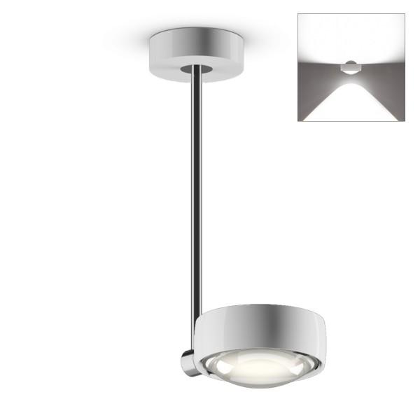 Occhio Sento E LED faro up, 30 cm, Chrom / weiß glänzend