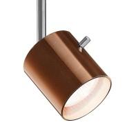800238 Glas Entblendring / Glasring für Strahler, Stift: Chrom / Glas: Bronze - weiß