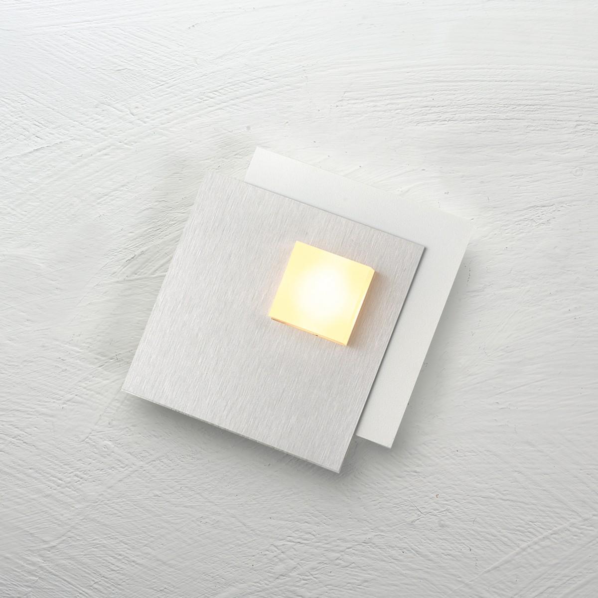 Bopp Pixel 2.0 LED Deckenleuchte 1-flg., weiß, Dekoplatte: Aluminium