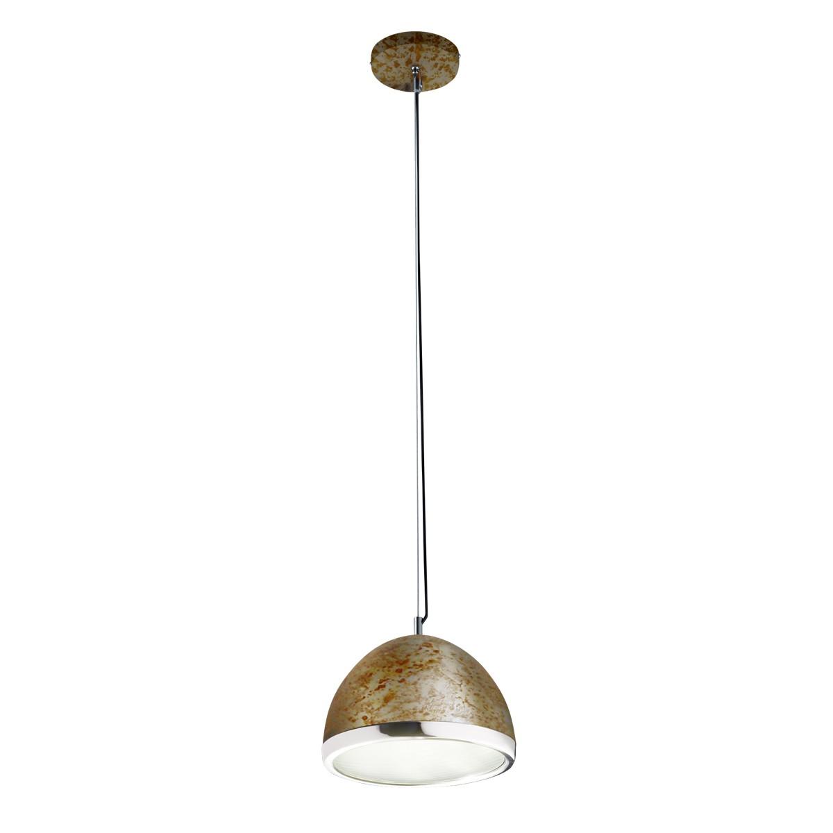 B-Leuchten Vintage LED-Pendelleuchte, Rost / Chrom