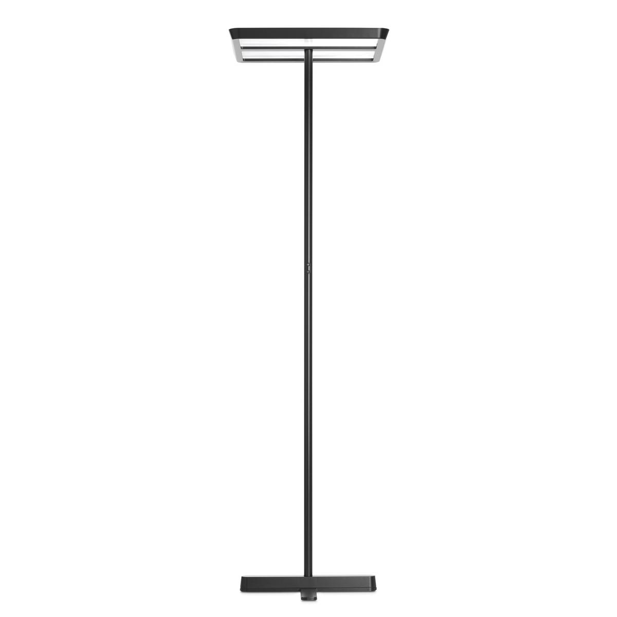 Belux Karo-10 Stehleuchte, Licht symmetrisch, dimmbar DALI, schwarz