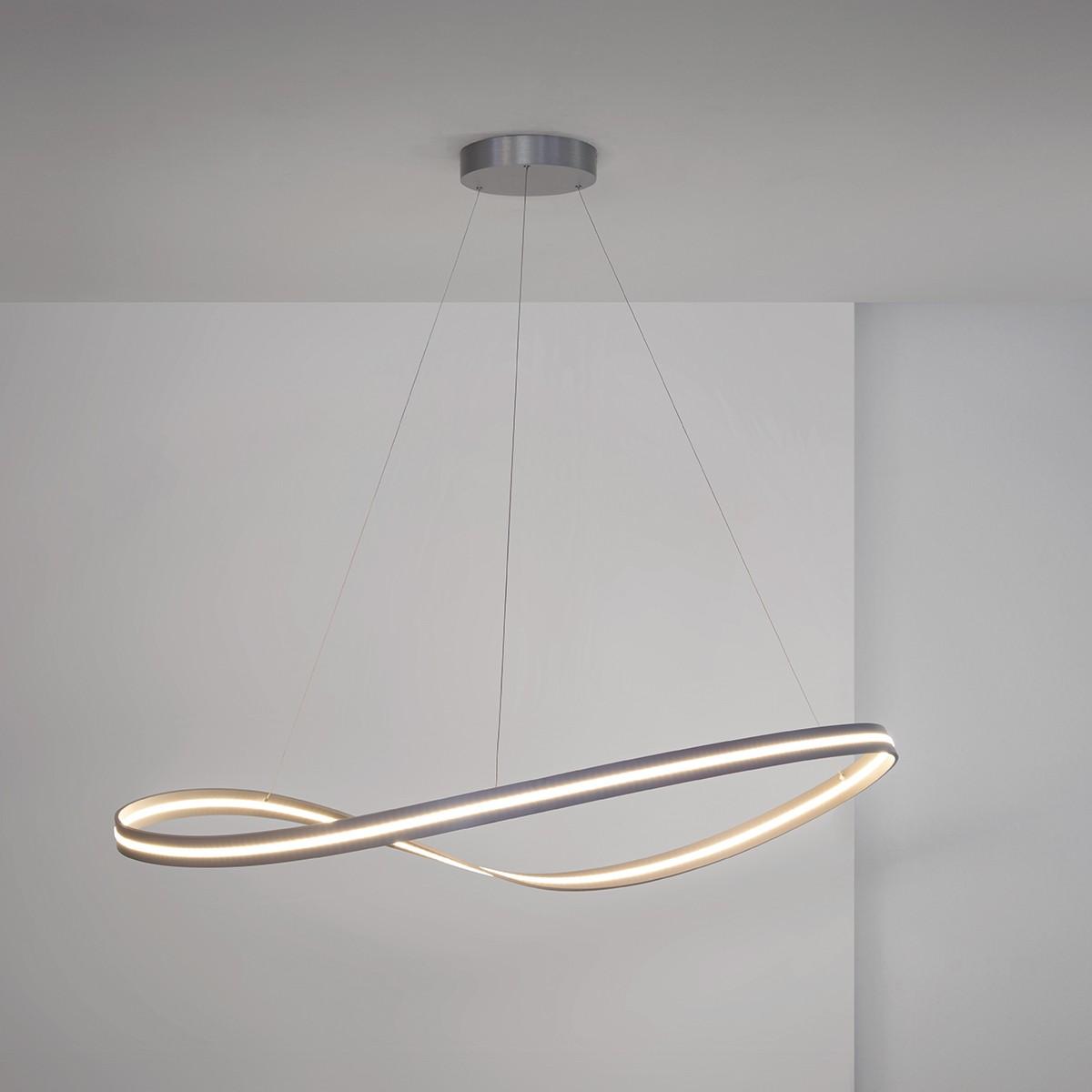 Escale Infinity Pendelleuchte, 105 x 80 cm, Alu geschliffen