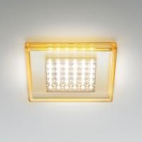 Quadriled Deckeneinbauleuchte LED, amber