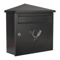 Pina Briefkasten, schwarz / Glimmer